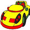 игра Окраска желтая пухлый автомобиля