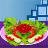 Delicioso cangrejo comida juego