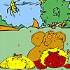 Állatkerti állatok és rovarok színező játék