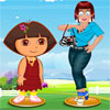 Zoe mit Dora Dress Up Spiel